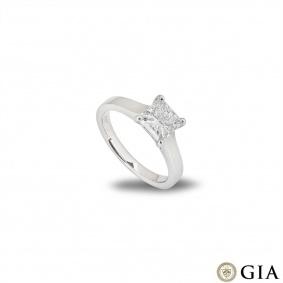 Platinum Princess Cut Diamond Ring 1.80ct G/IF